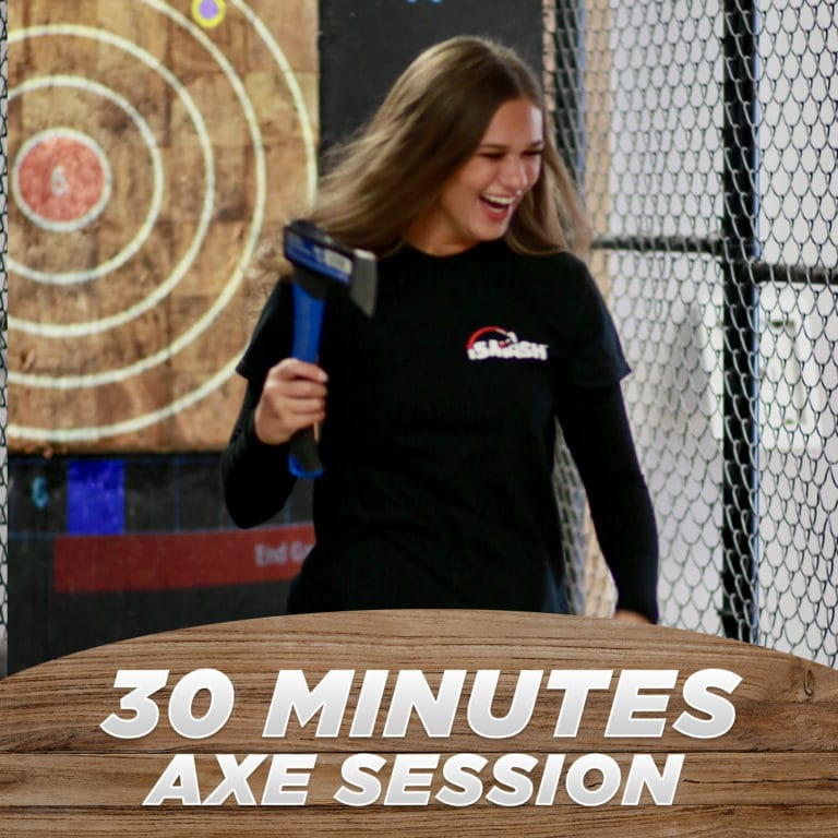 30 Minutes Axe Throwing Session